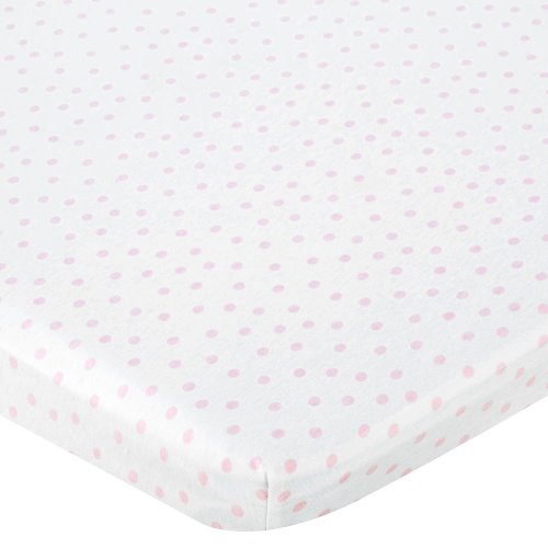Babies R Us Knit Bassinet Sheet - Pink Dot