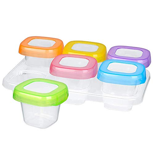 Contenitore Congelatore Contenitore Per Alimenti Per Bambini Bambino Contenitori Porta Cibo, Adatto a Congelatore e Microonde, a prova di perdita, Airtight, BPA Free (60 ml)