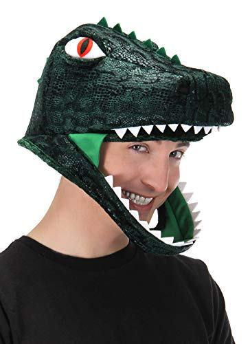 elope T-Rex Dinosaur Costume Jawesome Hat Green