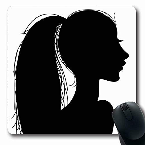 Mousepad Side Curls Adult Head Girls Schwarz Variation Afrika Short Topknot Young Hairstylebangs Weiß Dauerwelle Gummi 25X30Cm Arbeit Rutschfest Mousepad Längliche Mausmatte Büro