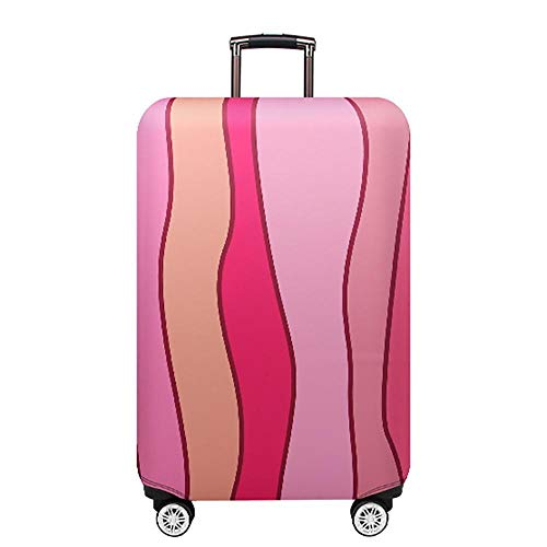 QFSZWX Thicker Blue City Luggage Cover Travel Suitcase Protective Cover for Trunk Case Apply to '19-32' Suitcase Cover valise (Color : Pink, Luggage Size : 24')