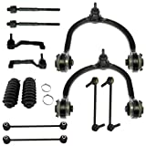 Detroit Axle - 12pc Front Upper Control Arms, Front Rear Sway Bar Links, Inner Outer Tie Rods w/Boot Kit for ALL WHEEL DRIVE