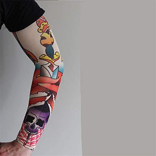 JinRui-Sport Tattoo Sleeve Tattoo Ice Silk Ärmel Sonnencreme Arm, alle Größe, Dünnschnitt 014 2 Packungen