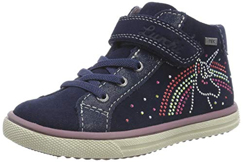 Lurchi Mädchen SOFI-TEX Sneaker, Blau (Navy 22), 31 EU