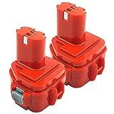 ADVTRONICS 2 Pack 12V 3500mAh Battery Compatible with Makita 12 Volt 1220 1222 1233 1200 1201 1234 1235 192598-2 PA12, 6213d 6217d 6227d 6313d, Ni-MH Battery