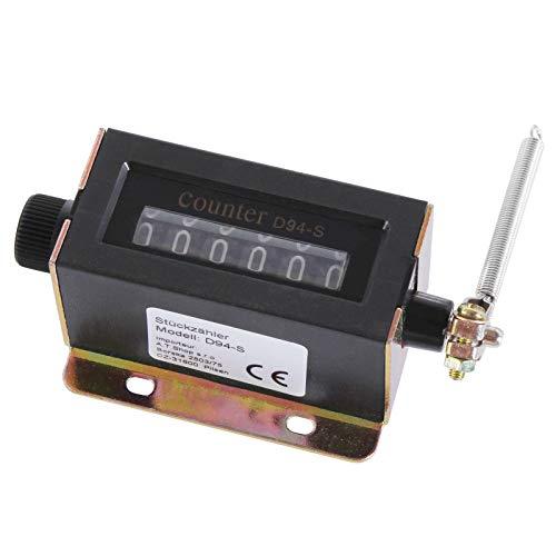 Mechanischer Stückzähler/Produktionszähler 6 stellig inkl. Montageplatte