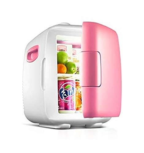 Sebasty Mini Refrigerador Eléctrico 12L, Refrigerador Eléctrico Y Calentador, Sistema Termoeléctrico Portátil AC/DC, Refrigerador Compacto For El Hogar, Oficina, Automóvil, Dormitorio O Bote, Rosado
