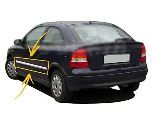 Protector de moldura para puerta lateral de Opel Astra G de 5 puertas, berlina/Estate 1998-2009, acero inoxidable cromado, 4 unidades