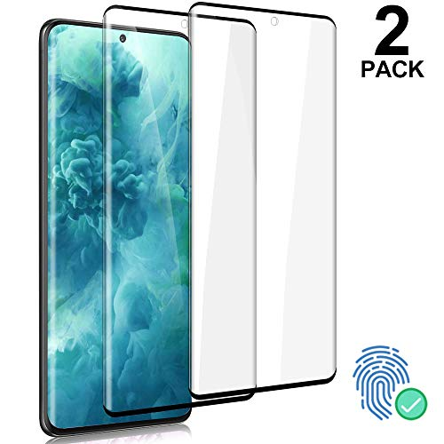 "Galaxy S20 Ultra Glass Screen Protector, [2-Pack] Tempered Glass HD Clear [Fingerprint Sensor, 9H Hardness, Anti-scratch, Case Friendly, 3D Curved Full Coverage] for Samsung Galaxy S20 Ultra 5G (6.9"")"