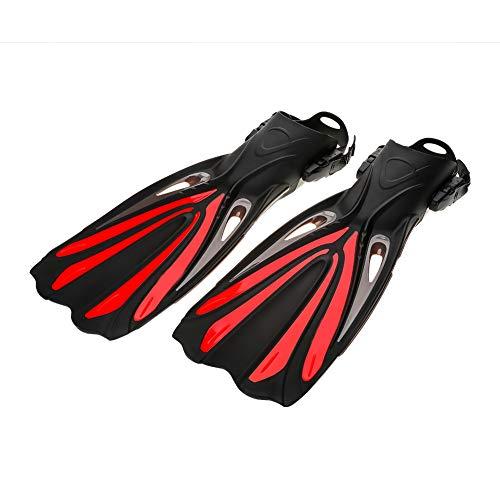Aletas de Buceo, Entrenamiento de natación Aletas de pie Viajes Snorkel Aletas para Adultos(Rojo-L/XL)
