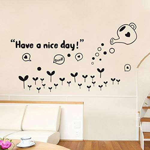 stickers muraux autocollant mural Have A Nice Day Carton Lettering Pattern For Nursery Kids Room Decals Babies Bedroom Murals for nursery kids room