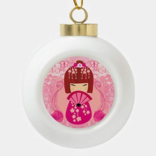 rfy9u7 Christmas Ball Ornaments, Kokeshi Doll Decoration Christmas Decorations Tree Balls for Holiday Wedding Party Decoration, Tree Ornaments