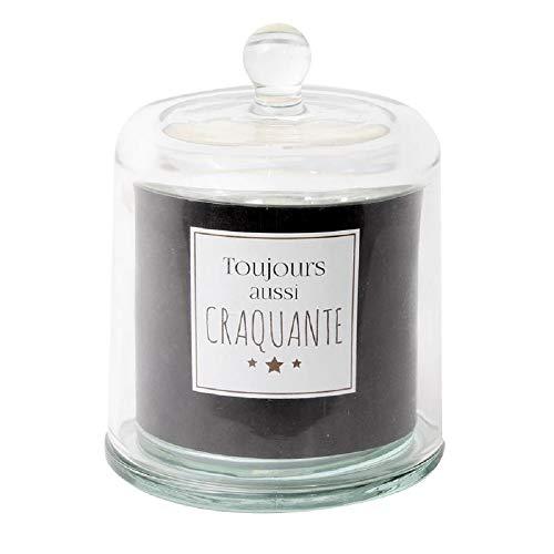 The concept factory CMP, Bougie sous Cloche 200 GR Toujours Aussi craquante Senteur Vanille - Couleur Noir