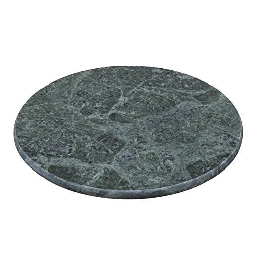 Creative Home Natural Green Marble Stone 12' Round Cheese Board Cake Dessert Serving Platter