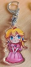Super Mario Princesses 【 Clear Acrylic Keychain 】 (Peach)
