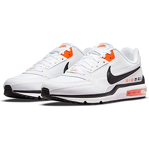 Nike Air MAX LTD 3, Zapatillas para Correr Hombre, Blanco Negro Naranja, 46 EU