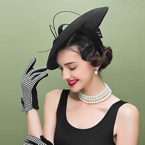 WAZA Feder / Polyester Kentucky Derby-Hut / Fascinatoren / Kopfbedeckung mit Blumig 1pc Hochzeit / Besondere Anlässe / Normal Kopfschmuck (Rot)