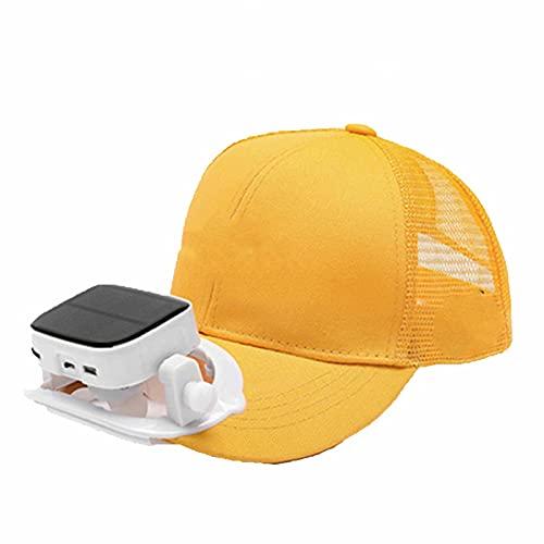 Visierhut - Solar Ventilator Schirmmütze Outdoor Sports leeren Zylinder mit solarbetriebener Ventilator Lüfterkühlung Ventilator Cap mit Solar Ventilator, Kappe mit Lüfter