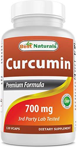 Best Naturals Turmeric Curcumin Extract 700 mg 120 Veggie Capsules -- MAX Potency -- Super Strength Curcumin) With 95% Curcuminoids For Maximum Health & Vitality! Strongest & Most Effective