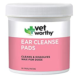 Vet Worthy Ear Cleaning Pads for Dogs (90 count)