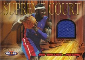 2004-05 Hoops Supreme Court Jerseys #BW Ben Wallace Jersey NBA Basketball Trading Card