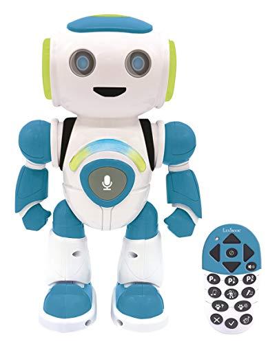 Lexibook ROB20EN Powerman Jr. Intelligentes interaktives Liest im Geist - Spielzeug für Kinder, Tanzt Musik, Tierquiz, STEM programmierbar, Fernbedienung Boy Roboter, grün/blau