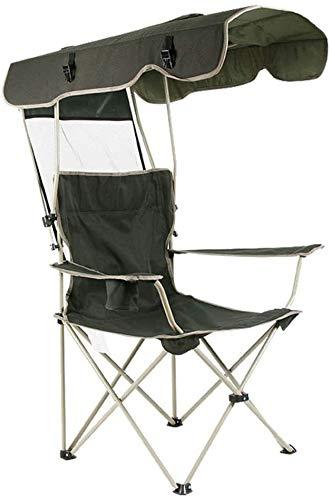 Extérieur Portable Loisirs Chaise Pliante Parasol Pêche Chaise de Plage avec Porte-gobelet Pare-Soleil Haute résistance Tissu Oxford Robuste Durable for Le Jardin Camping Voyage