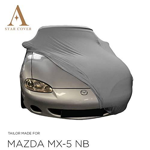 AUTOABDECKUNG GRAU PASSEND FÜR Mazda MX-5 NB INNEN SCHUTZHÜLLE ABDECKPLANE SCHUTZDECKE VOLLGARAGE Cover