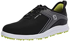 Durable construction - waterproof, easy care synthetic uppers provide a comfortable fit and added durability Turf gripping advantage - soft molded rubber traction elements ensure a slip free round with turf gripping traction Waterproof - fj warrants ...