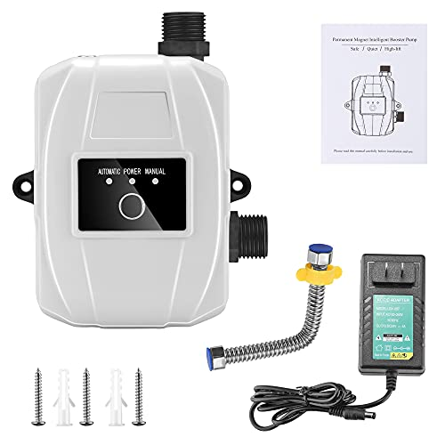 MATHOWAL Conector automático de carcasa de bomba de refuerzo de agua fría 24 V 100 W Agua a presión para fregadero de cocina Cabezal de ducha Grifo para exteriores, fácil instalación (24V/100W)
