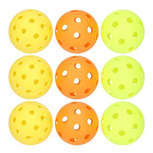 Sfere Pickleball, 26 Fori Sfere Pickleball, 9 Pezzi ad Alta intensità Colore Brillante Durevole per Principianti Professionisti