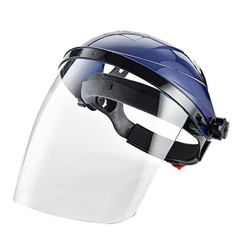 Máscara de seguridad con visera y protector transparente ✅