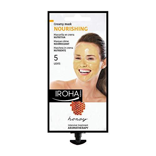 Iroha Nature - Mascarilla Facial en Crema, Hidratante Nutritiva con Miel, 5 usos (1 x 25 g) | Mascarilla Hidratante Miel Aromaterapia