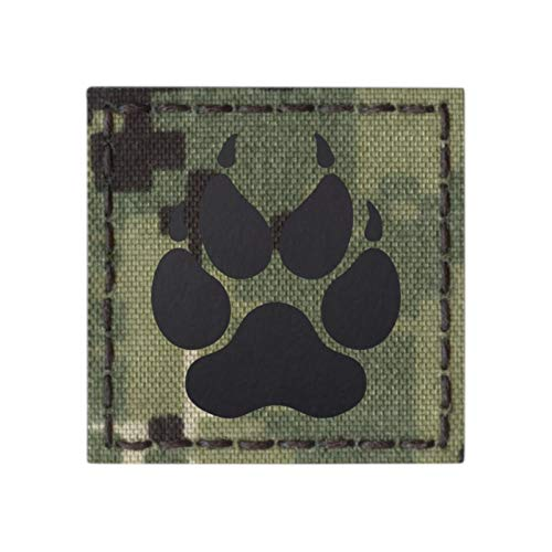AOR2 IR K9 Dog Handler Paw K-9 2x2 NWU Type III Tactical Morale Hook-and-Loop Patch