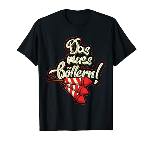 El imprescindible para los villanos fuegos artificiales Böller Nochevieja cohetes Camiseta