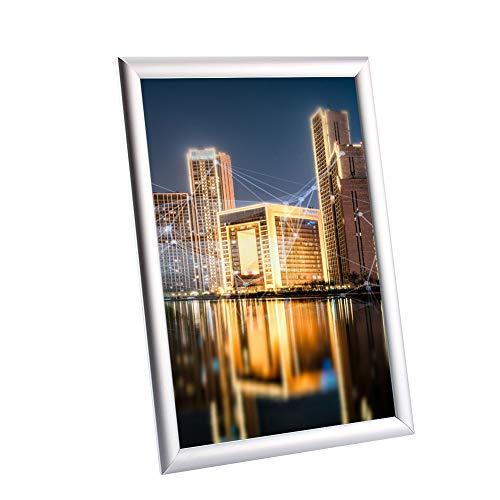 Chenerek Marco de póster - Aluminio A3 Snap Marco de póster Clip Imagen Soporte de Foto Pantalla Impermeable