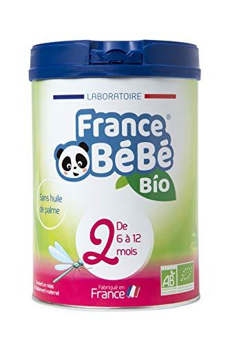 FRANCE BéBé BIO - Lait infantile de suite bébé 2ème âge en poudre - Lait fabriqué en France - 13 Vitamines 12 Minéraux - 800g