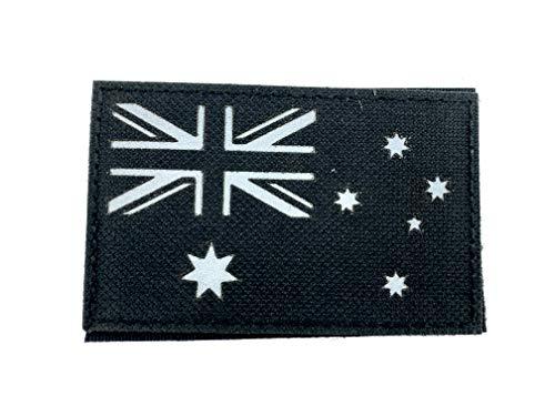 Australië Australische vlag zwart reflecterende tactisch geborduurd airsoft paintball cosplay patch