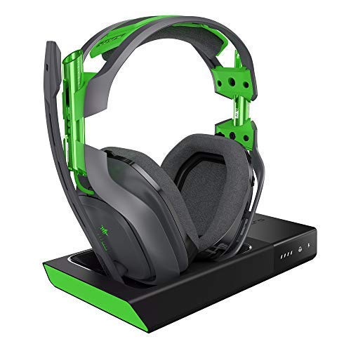 ASTRO Gaming A50 Headset (kabellos) + Basisstation mit Dolby 7.1 Surround Sound (kompatibel mit Xbox One, PC, Mac) grau/grün (Generalüberholt)