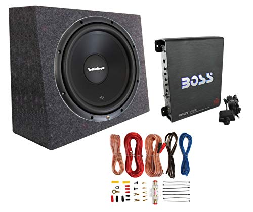 Rockford Fosgate R1S4-12 12' 300W Subwoofer + Sealed Box + Mono Amp + Wiring Kit