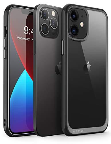 SupCase Capa série Unicorn Beetle Style projetada para iPhone 12 (2020)/iPhone 12 Pro (2020) 6,1 polegadas, capa protetora híbrida premium transparente (preto)