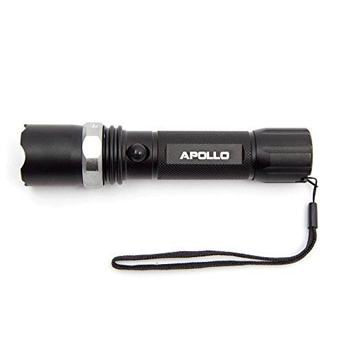 Apollo Led Taschenlampe 500 Lumen Extrem Hell - CREE XM-L T6, Zoombar, Einstellbarer Fokus, Mit Zoom Modus Für Noch Mehr Reichweite, Batterie- oder Akkubetrieb