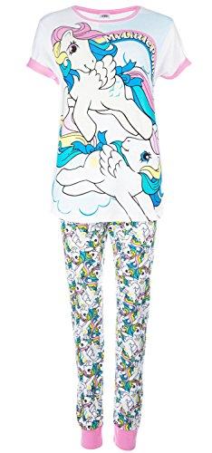 i-smalls My Little Pony Rainbow Top Bedruckte Hose Pyjama mit lila Augenmaske (36-38)