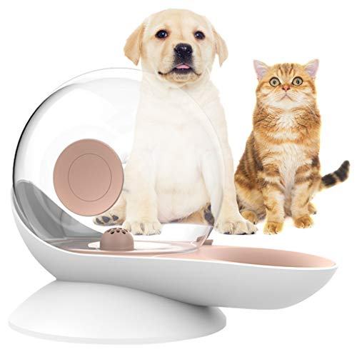 OldPAPA Haustier Wasserspender, Katzenbrunnen 280 ml Schneckenform Automatischer Katzen Trinkbrunnen Hunde Wasserschale Spender - Leicht zu erkennender Wasserstand