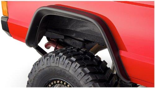 Bushwacker 10922-07 Black Jeep Flat Style Textured Finish 4-Piece Fender Flare Set for 1984-2001...