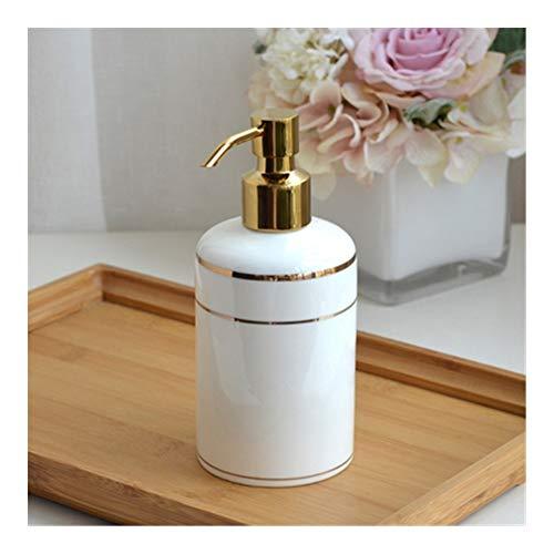 dosificador jabon baño Cerámica dispensador de jabón bomba de la loción de botella de cerámica de China de hueso del hotel Champú Gel de ducha de baño desinfectante de la mano del hogar dispensador ja