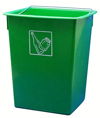 Cubo basura reciclar verde 26 litrros CM C/Asa