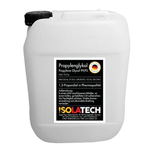 Glicole propilenico da 10 l, glicole propilenico 99,9% in qualità farmaceutica 1,2 propandioll (contenuto 10 kg)