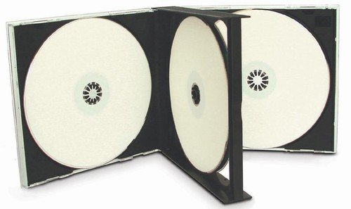 mediaxpo 10cd4black 10 Quad 4 CD Jewel Case Nero