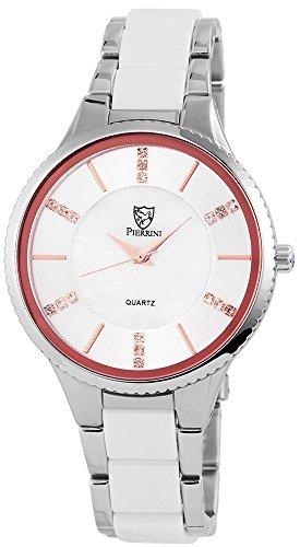 pierrini Mujer Reloj De Pulsera Acero Inoxidable Banda analógico de cuarzo 182242000002, 1